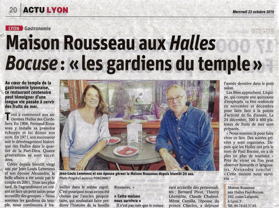 Halles Paul Bocuse Lyon - Maison Rousseau