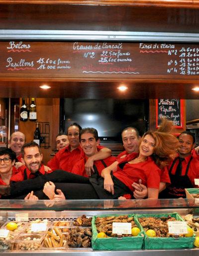 Equipe Maison Rousseau Halles de Lyon