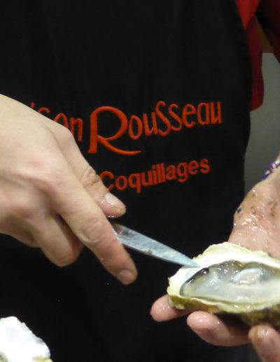 Huitres Maison Rousseau Halles de Lyon